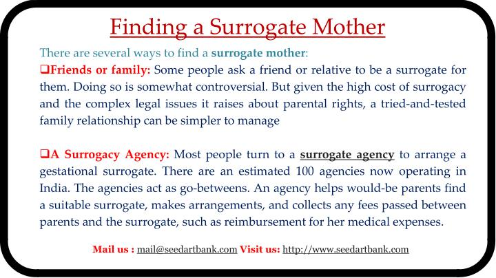 Finding a Surrogate Mother