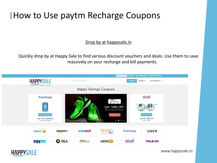 How to use paytm recharge coupons1