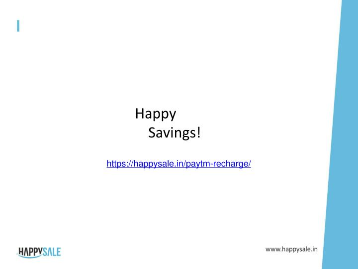 Happy Savings!