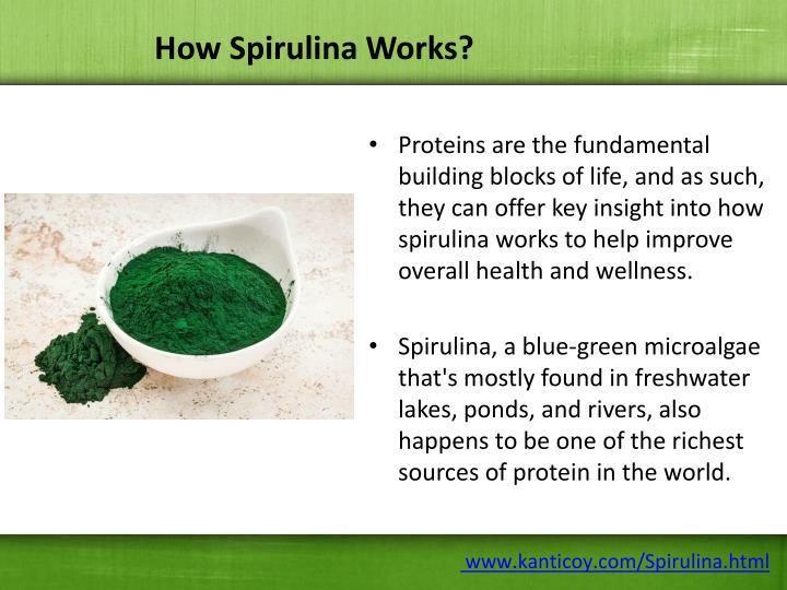 How Spirulina Works?