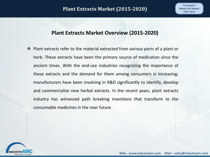 Plant Extracts Market (2015-2020)