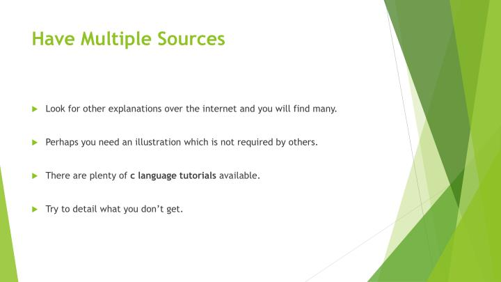 Have Multiple Sources