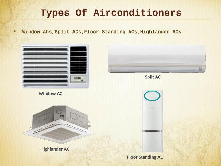 Types Of Airconditioners