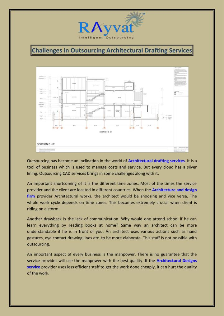 Challenges in Outsourcing Architectural Drafting