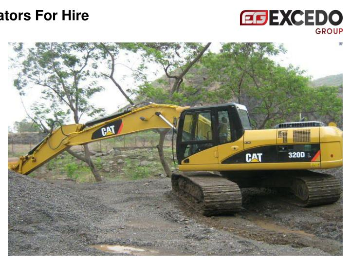Excavators For Hire