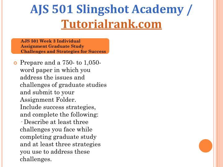 AJS 501 Slingshot Academy /