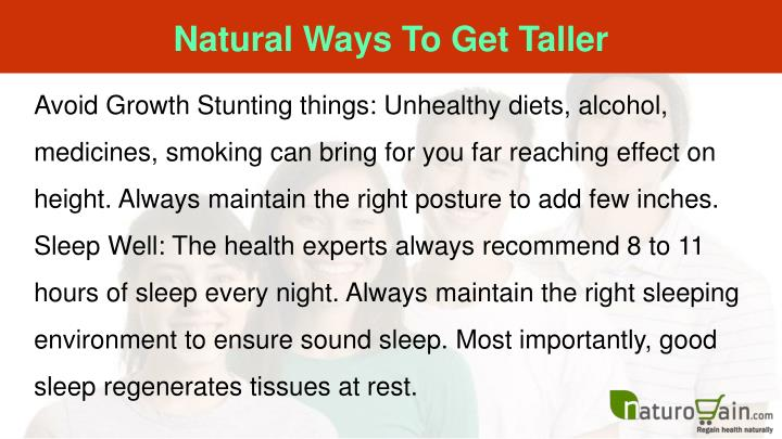 Natural Ways To Get Taller