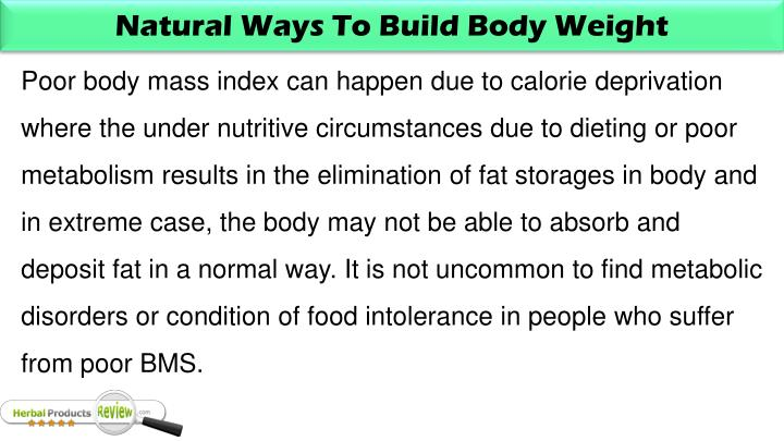 Natural Ways To Build Body Weight