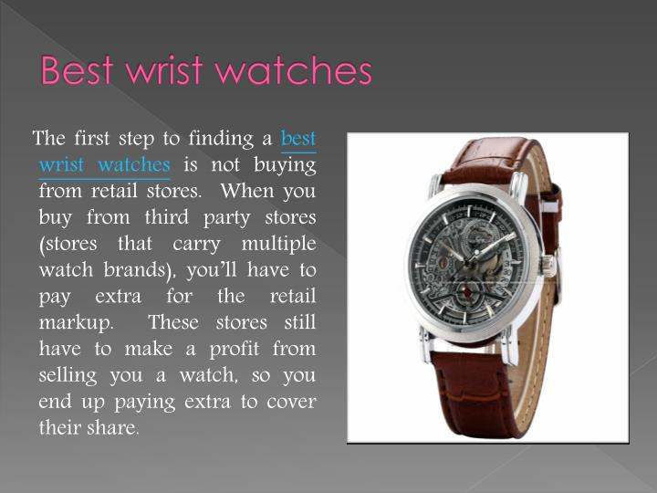 Best wrist watches