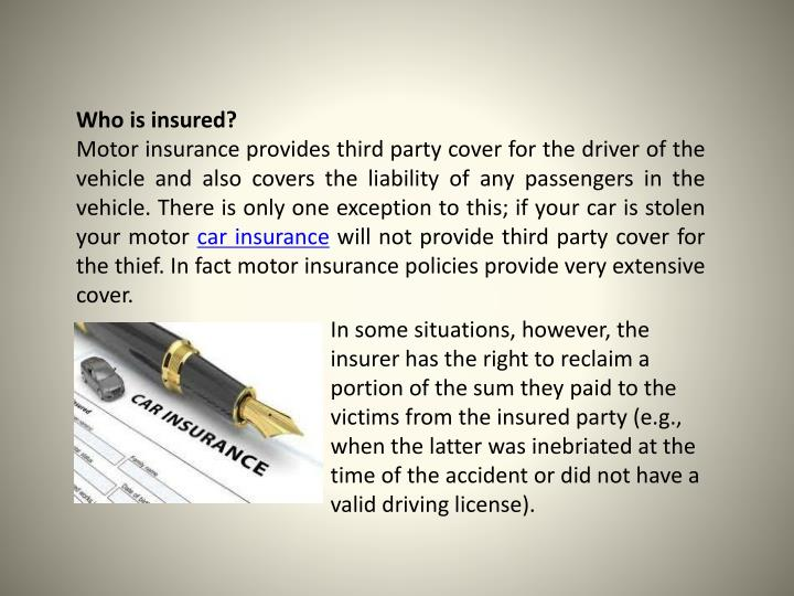 Who is insured?