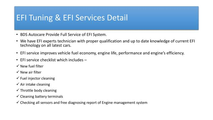 EFI Tuning & EFI Services Detail