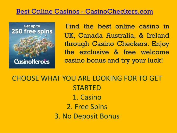 Best Online Casinos - CasinoCheckers.com