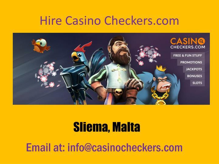 Hire Casino Checkers.com