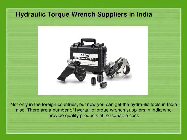Hydraulic Pullers Manufacturers In India : Ppt hydraulic products and their uses in modern