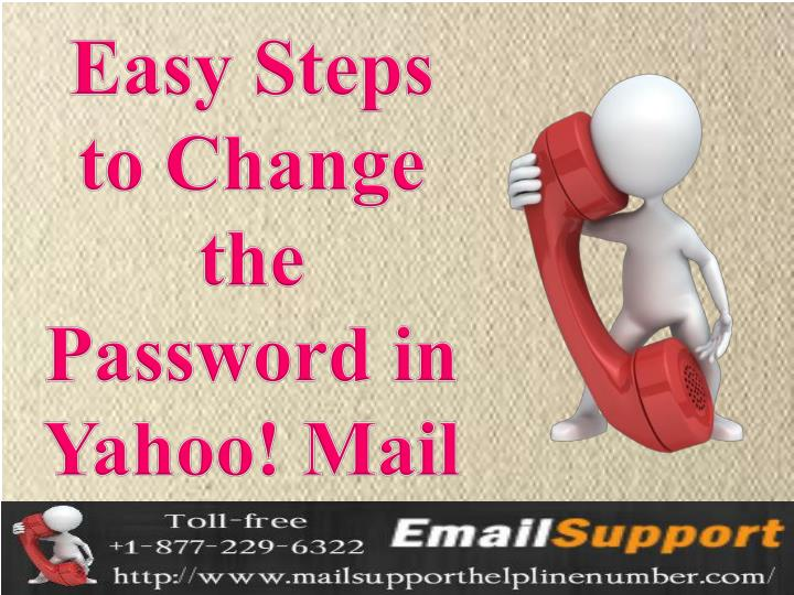 Easy Steps to Change the Password in Yahoo! Mail