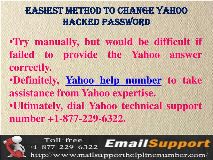 easiest method to change yahoo  Hacked password
