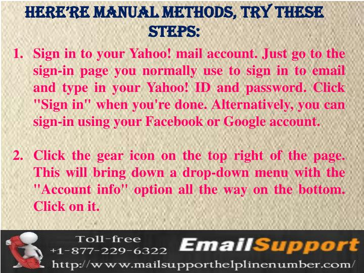 Here're manual methods, try these steps: