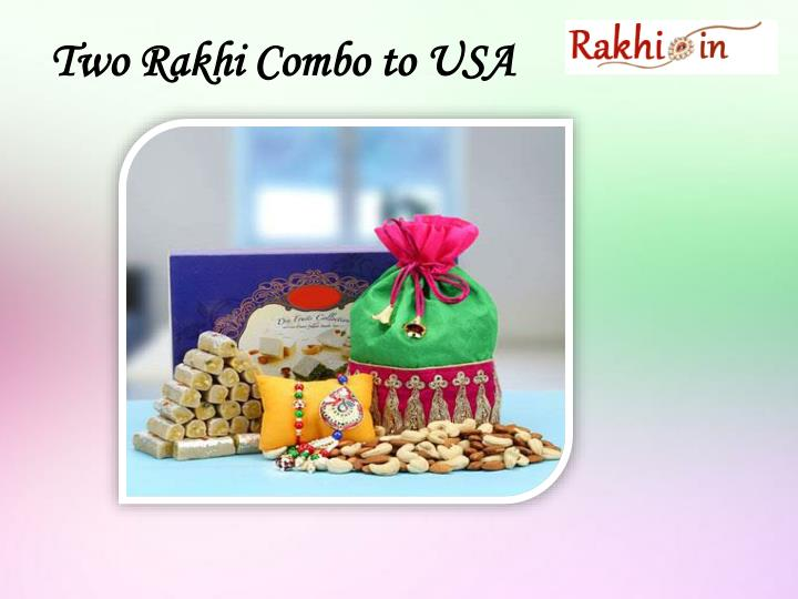 Two Rakhi Combo to USA