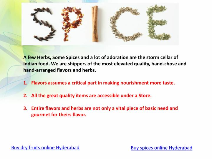 A few Herbs, Some Spices and a lot of adoration are the storm cellar of