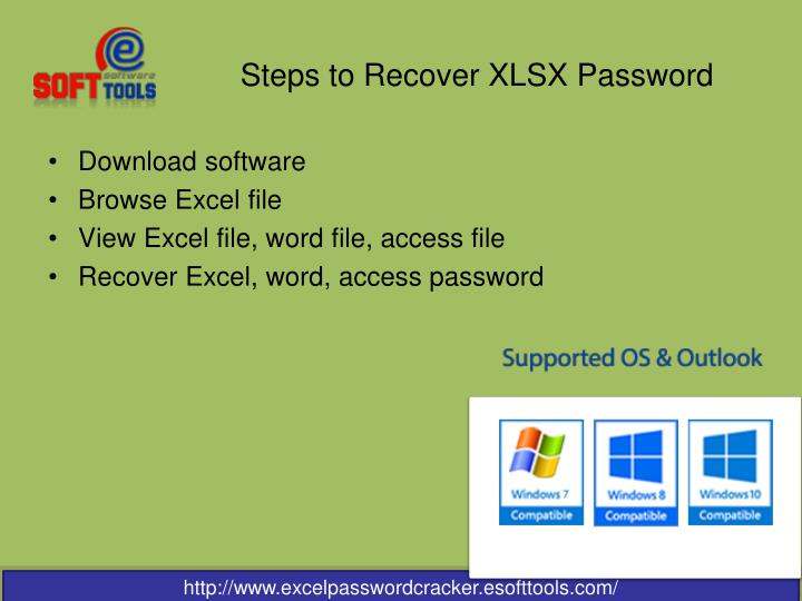 Steps to recover xlsx password