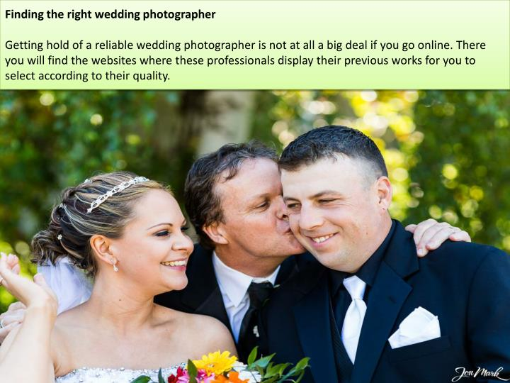 Finding the right wedding