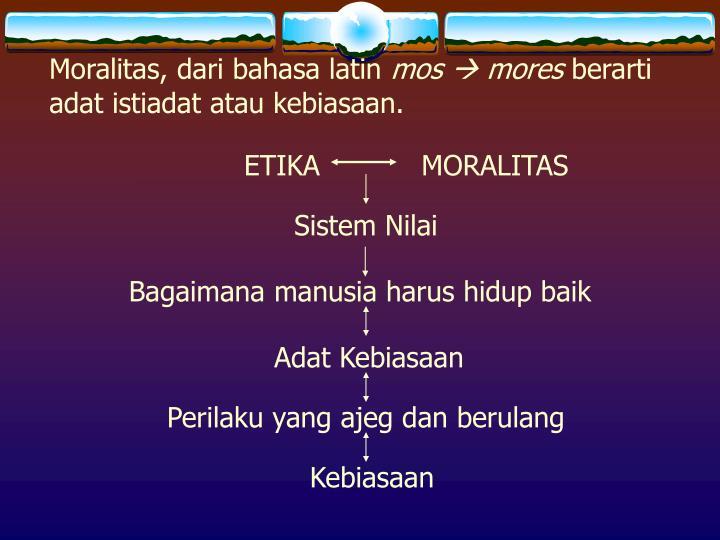 Moralitas, dari bahasa latin
