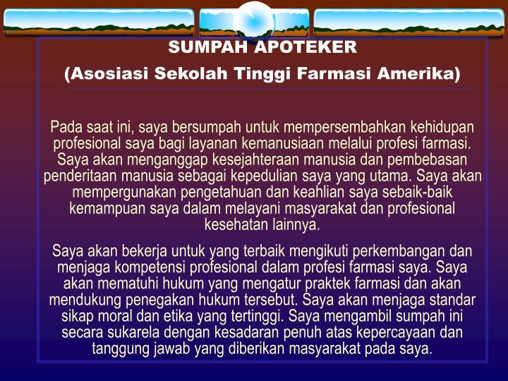 SUMPAH APOTEKER