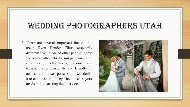 wedding photographers utah