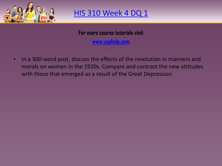 HIS 310 Week 4 DQ