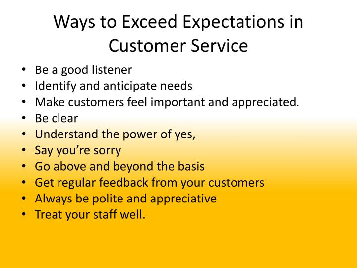 Ways to Exceed Expectations in Customer Service