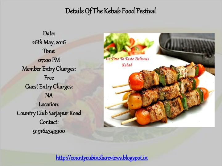 Details Of The Kebab Food Festival