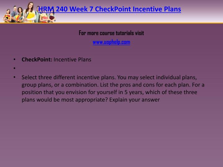 HRM 240 Week 7