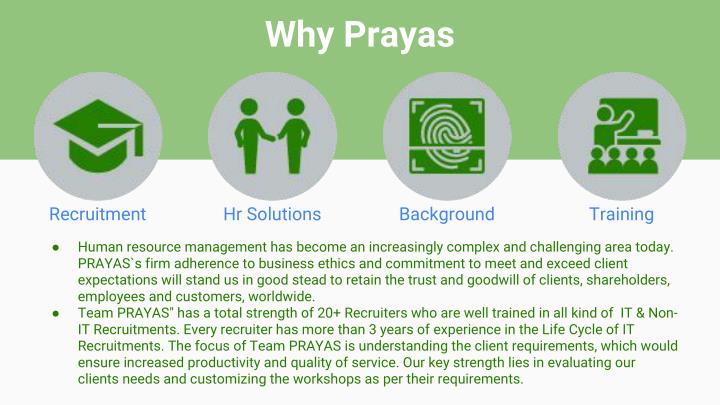 Why Prayas