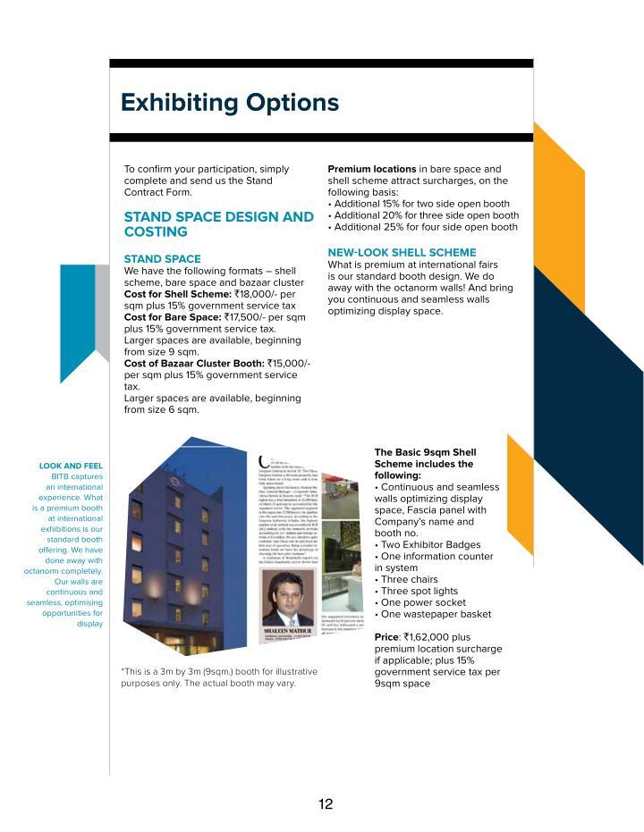 exhibiting options