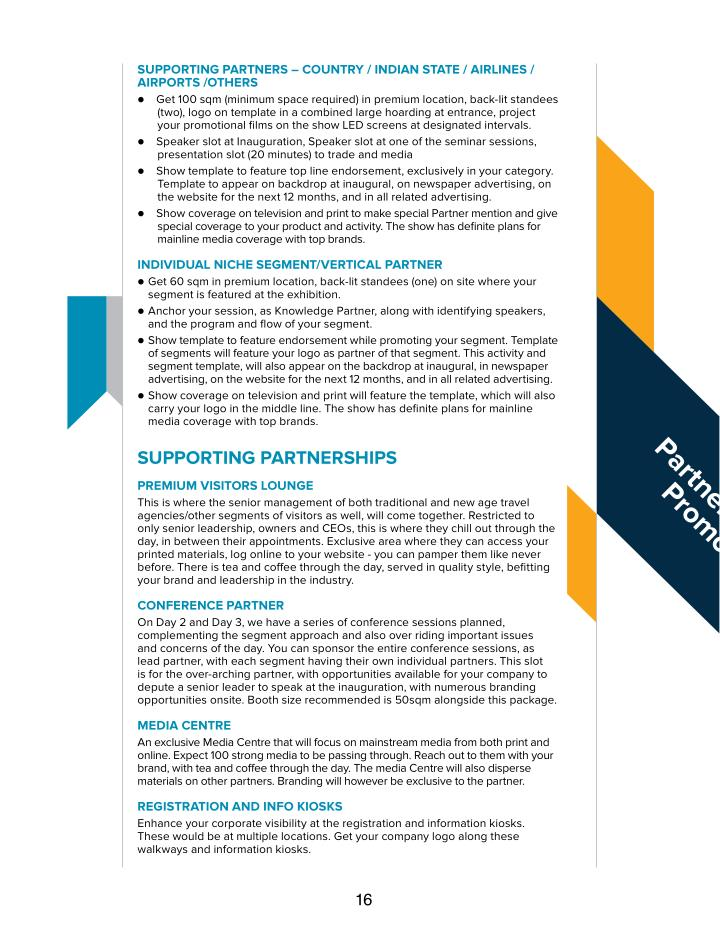 sUPPorTInG PArTners – coUnTry / IndIAn sTATe / AIrLInes /