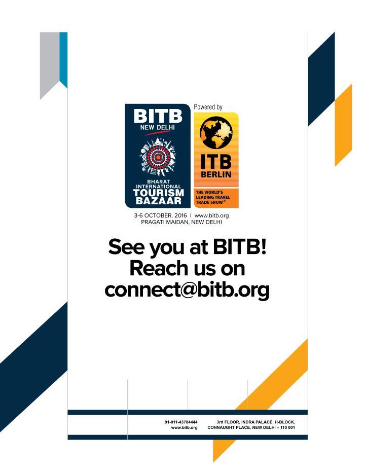 3-6 october, 2016  I  www.bitb.org