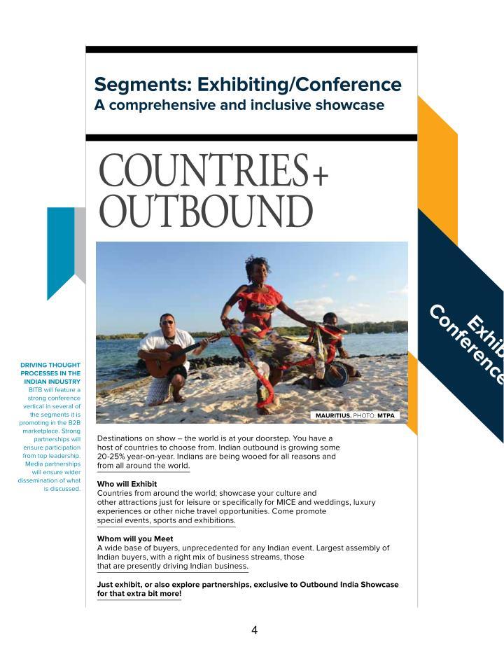segments: exhibiting/conference