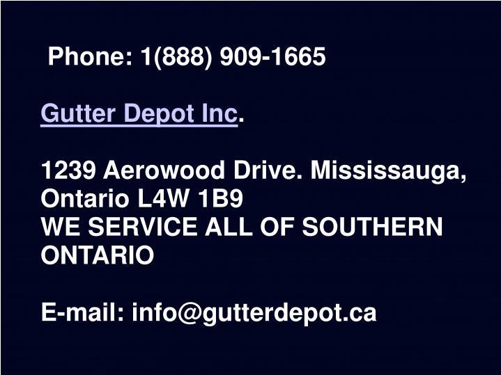 Phone: 1(888) 909-1665