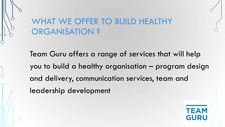What we Offer to build healthy