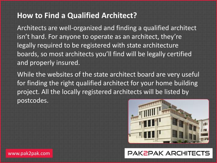 How to Find a Qualified Architect?