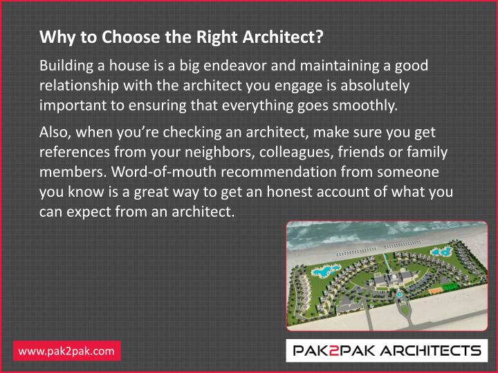 Why to Choose the Right Architect?
