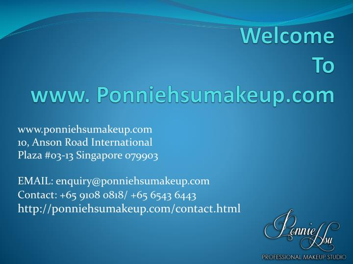 Welcome to www ponniehsumakeup com