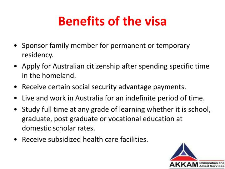 Benefits of the visa