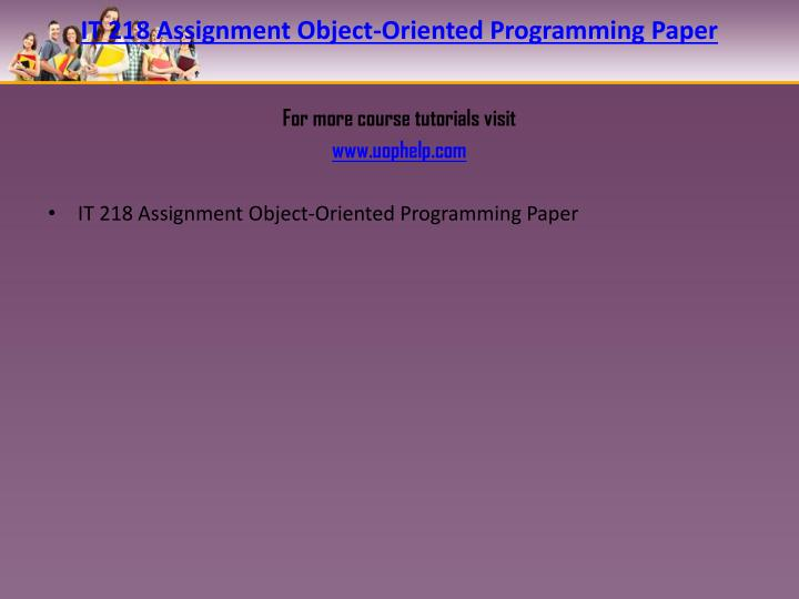Object essay assignment