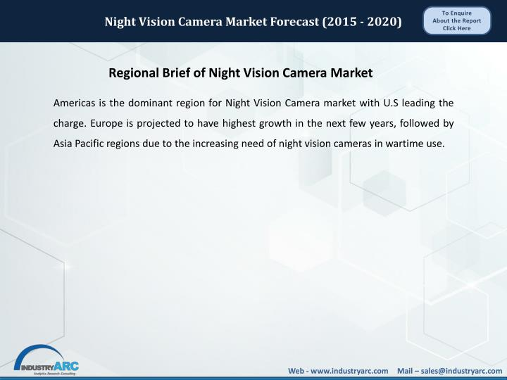 Night Vision Camera Market Forecast (2015 - 2020)