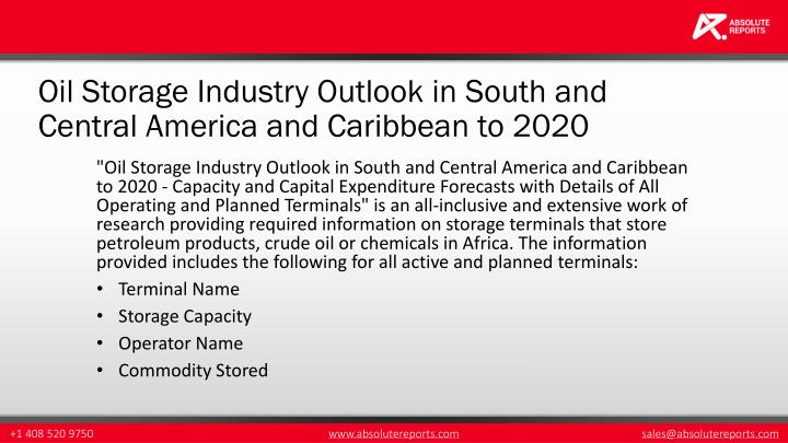 Oil Storage Industry Outlook in South and Central America and Caribbean to 2020