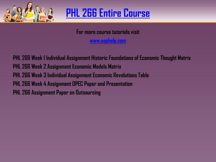 Phl 266 entire course