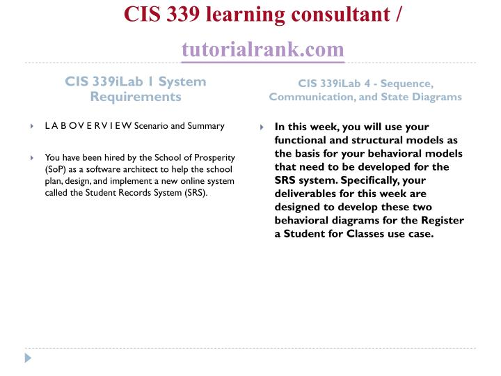 Cis 339 learning consultant tutorialrank com2