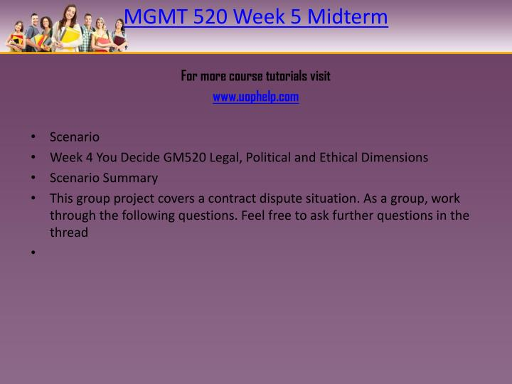 gm520 you decide week 6 Gm520 week 5 midterm (set 1) answer in short 1 question: tco b infuriated when harry reid is re-elected during the 2010 fall election, the republicans in congress decide to take matters into their own hands.