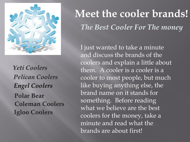 Meet the cooler brands!